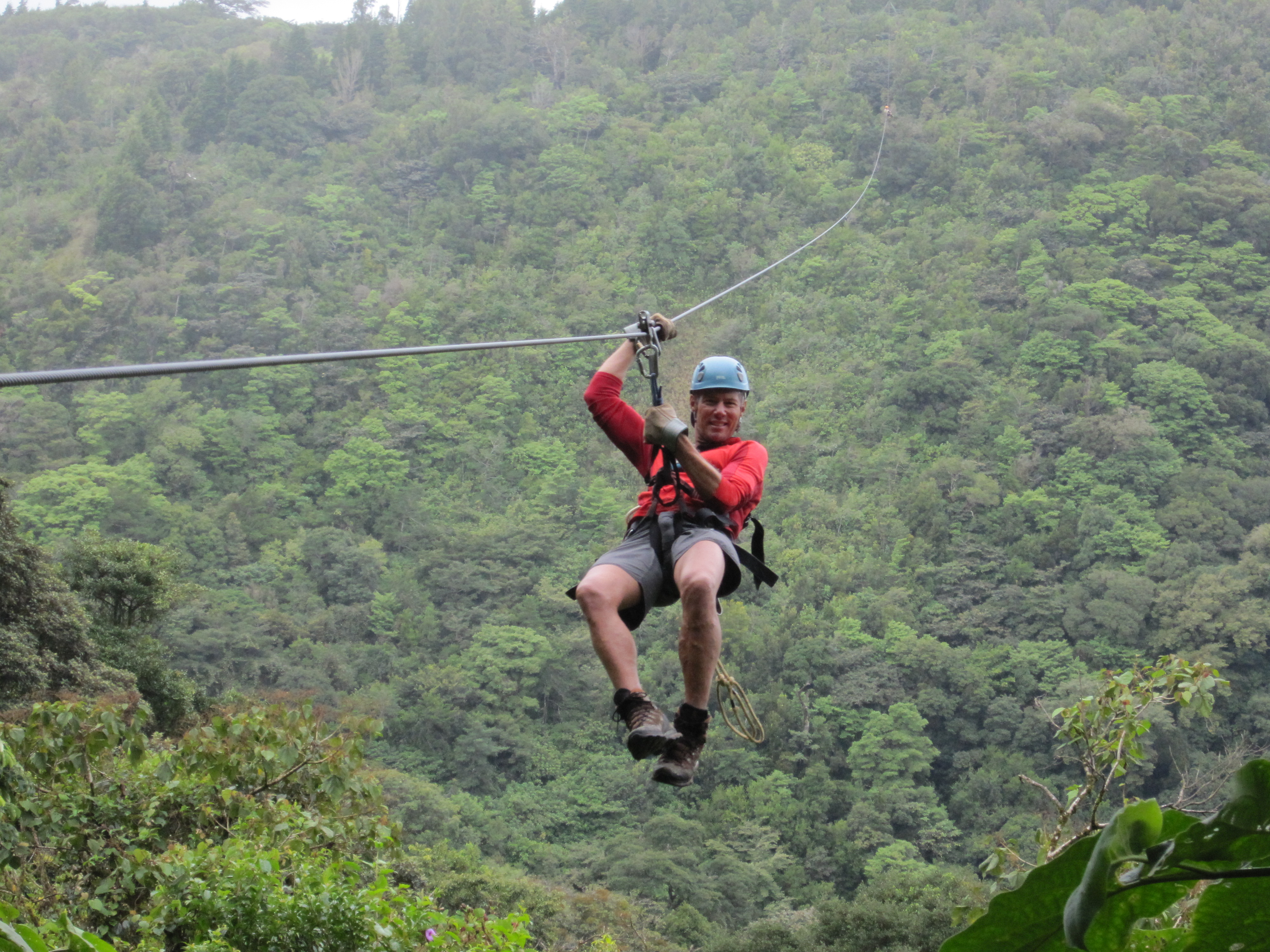 costa rican zipline Arenal zip lines - more than 500 acres of forest with an amazing view 10 cables, 10 platforms, 3 trails, 2 hanging bridges, 1 tarzan swing total of 1045m.